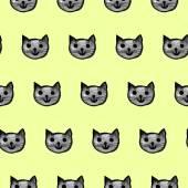 Wzór z kotami — Wektor stockowy