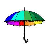 Classic opened umbrella — Stock Vector