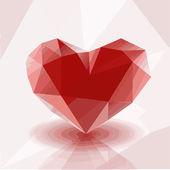 Illustration of poligonal heart — Stock Vector