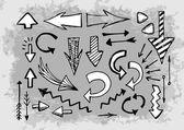 Различные стрелки набор — Cтоковый вектор