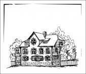 Maison de l'encre Vintage — Vecteur