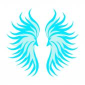 Blue wings isolated — Stock Vector