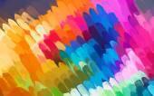 Rainbow diagonal brush strokes background — Stock Vector