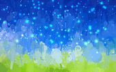 Sparkle landscape brush strokes background — Stock Vector