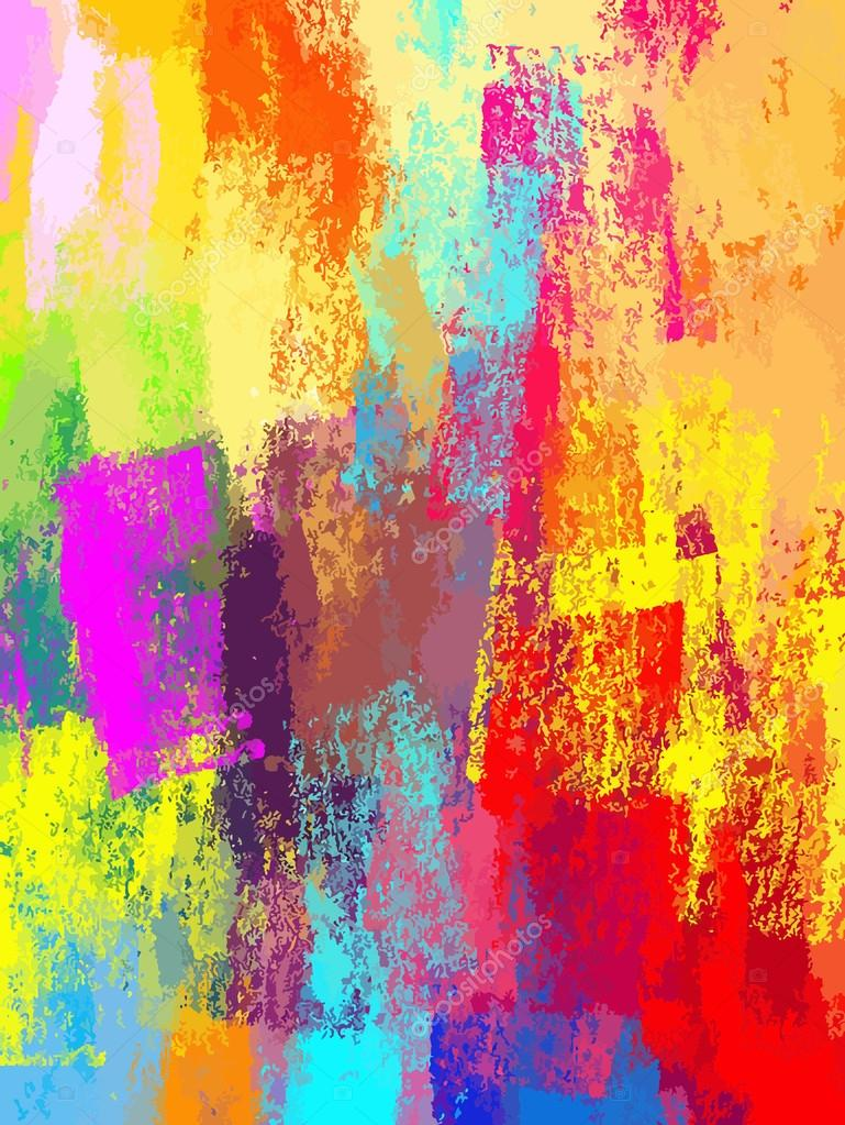 Paint Brush Strokes Colorful