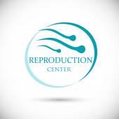 Logo reproduction center — Stock Vector
