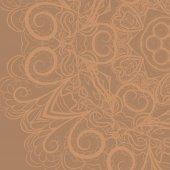 Beige floral pattern — Stock Vector