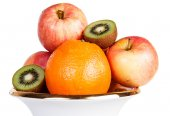 Fruit orange kiwi apple healthy — Stock Photo