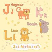 Alphabet with animals — Stock Vector