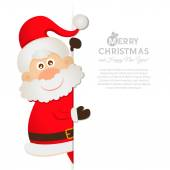 Postcard Santa Claus with space for text — Vector de stock