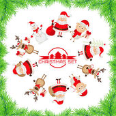 набор символов рождества — Cтоковый вектор