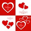 Greeting cards with hearts — Stock Vector #62899879