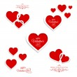 Greeting cards with hearts — Stock Vector #62899881