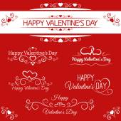 Inscriptions for Valentine's Day — Stockvektor