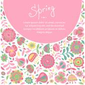Spring card for congratulations — Vecteur