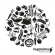 Various vegetables silhouettes — Stock Vector #70960671