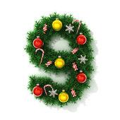 Árvore de Natal número fonte 9 — Fotografia Stock