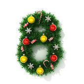 Christmas tree font number 8 — Stock Photo