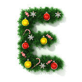 Christmas font letter E — Stock Photo