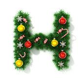 Christmas font letter H — Stock Photo