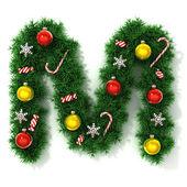 Christmas font letter M — Stock Photo