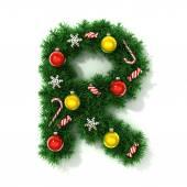 Christmas font letter R — Stock Photo