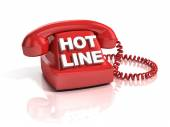 Hot line phone 3d icon — Stock Photo