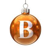Colorful Christmas ball font letter B — Stock Photo