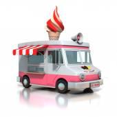 Ice cream truck — Stock Photo