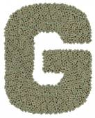 Letter G made of old and dirty microprocessors — Zdjęcie stockowe