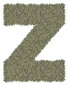 Letter Z made of old and dirty microprocessors — Zdjęcie stockowe