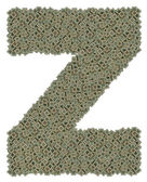 Letter Z made of old and dirty microprocessors — Stock Photo