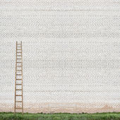 Huge white brick wall — Stock Photo
