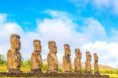 Ahu Akivi Moai — Stock Photo