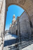Arequipa Cathedral and Gate — Stock Photo