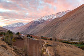 Elqui Valley-Sonnenuntergang — Stockfoto