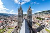 Quito Basilica Towers — Stock Photo