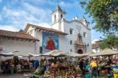 Cuenca, Ekvator çiçek satıcıları — Stok fotoğraf