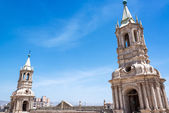 Arequipa Cathedral Spires — Stock Photo