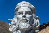 Bust of Che Guevara in La Higuera — Stock Photo
