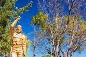 Che Guevara Statue in La Higuera — Stock Photo