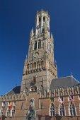 Famous Belfry of Bruges (Belgium) — Stock Photo