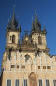 Church of Our Lady before Tyn in sunset ligh. Prague. — Стоковое фото