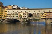 Ponte Vecchio Bridge ( Florence, Italy) — Stock Photo