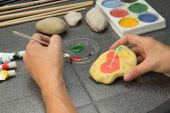 Stone painting — Stock Photo