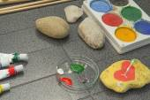 Requirements for painting on stone — Stock Photo