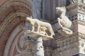 Statue of the She-Wolf of Siena (Italy) — Stock Photo