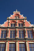Gable roof and windows of the house (Bruges, Belgium) — Stock Photo