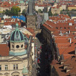 Постер, плакат: Aerial view of Nerudova street in Prague