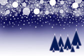 The dark blue Christmas background — Stock Photo